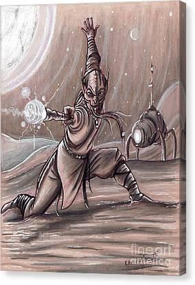 Galactic Wizard Canvas Print