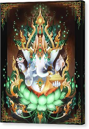Galactik Ganesh Canvas Print by George Atherton