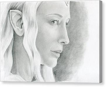 Galadriel The Fair Lady Of The Forest Canvas Print by Bitten Kari