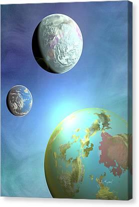 Galaxy 2 Canvas Print by John Keaton