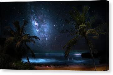 Galaxy Beach Canvas Print by Mark Andrew Thomas