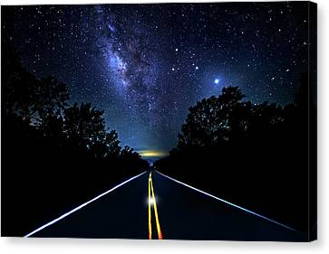 Canvas Print featuring the photograph Galaxy Highway by Mark Andrew Thomas