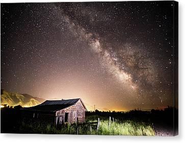 Galaxy In Star Valley Canvas Print