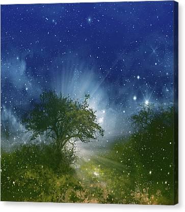 Surreal Landscape Canvas Print - Galaxy Landscape by Bekim Art