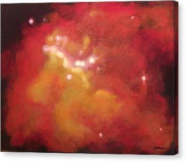 Galaxy M20 Possible Merging Of 2 Black Holes Canvas Print by Jim Ellis