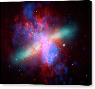 Canvas Print featuring the photograph Galaxy M82 by Marco Oliveira
