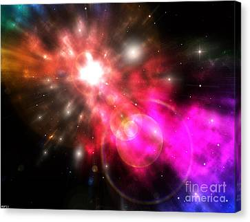 Canvas Print featuring the digital art Galaxy Of Light by Phil Perkins