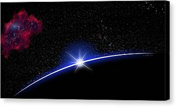 Galaxy Rising Canvas Print by John Wills
