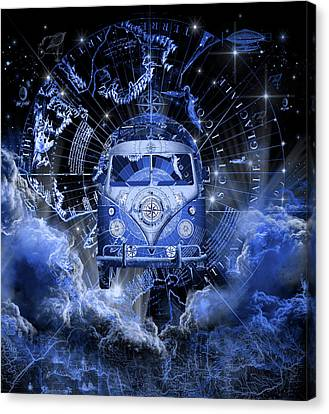 Old Map Canvas Print - Galaxy Vintage Voyager 4 by Bekim Art