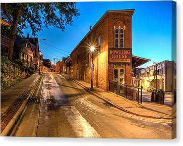 Galena By Night Canvas Print by Matt Hammerstein