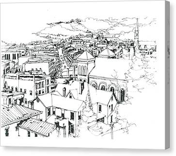Galena Illinois View Of Town Canvas Print by Robert Birkenes