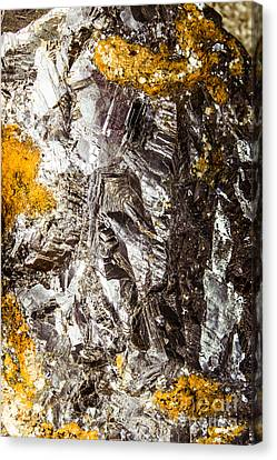 Pyrite Canvas Print - Galena Metallic Ore Closeup by Jorgo Photography - Wall Art Gallery