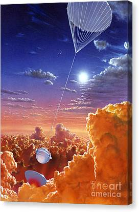 Astronomical Canvas Print - Galileo Space Probe by Lionel Bret and Photo Researchers