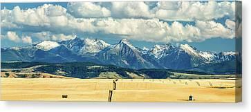 Gallatin Range Canvas Print by Todd Klassy