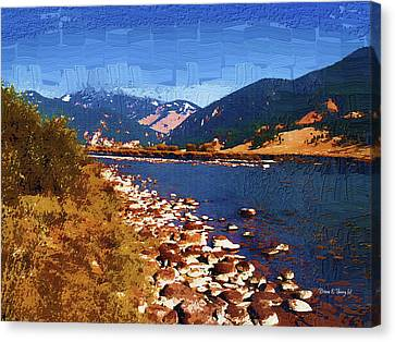 Gallatin River Dreams Canvas Print by Diane E Berry