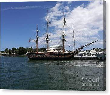 Galleon Sailboat  Canvas Print by Daniel Diaz