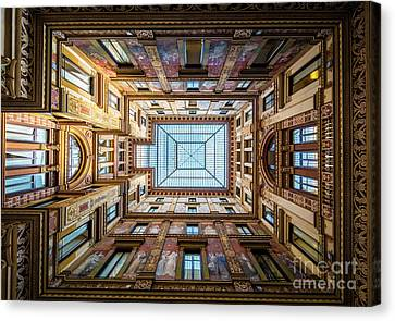 Galleria Ceiling Canvas Print by Inge Johnsson