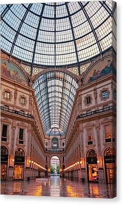 Galleria Milan Italy Canvas Print by Joan Carroll