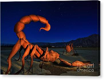 Galleta Meadows Estate Sculptures Borrego Springs Canvas Print by Sam Antonio
