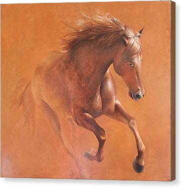 Gallop In The Desert Canvas Print