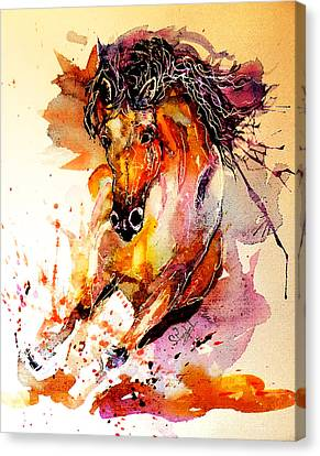 Galloping Horse Canvas Print by Steven Ponsford