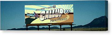Robert Morrissey Canvas Print - Gallup New Mexico by Robert Morrissey