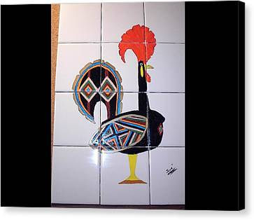 Galo De Barcelos Canvas Print by Hilda and Jose Garrancho