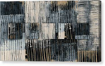 Canvas Print featuring the mixed media Galvanized Paint Number 1 Horizontal by Carol Leigh