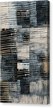 Canvas Print featuring the photograph Galvanized Paint Number 1 Vertical by Carol Leigh