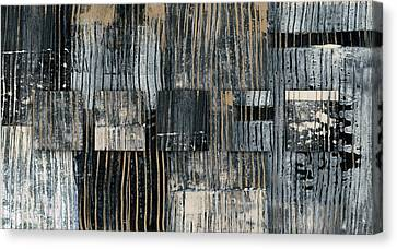 Canvas Print featuring the photograph Galvanized Paint Number 2 Horizontal by Carol Leigh
