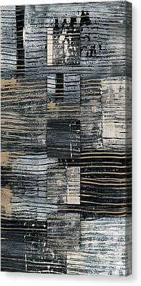 Canvas Print featuring the photograph Galvanized Paint Number 2 Vertical by Carol Leigh