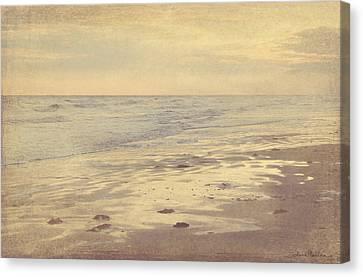 Galveston Island Sunset Seascape Photo Canvas Print by Svetlana Novikova