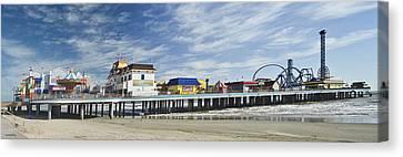 Galveston Pleasure Pier Canvas Print by Allen Sheffield