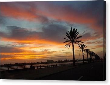 Galveston Sunrise Canvas Print by Robert Anschutz