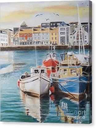 Galway Harbour Canvas Print by Vanda Luddy