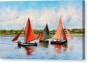 At Sea Canvas Print - Galway Hookers by Conor McGuire