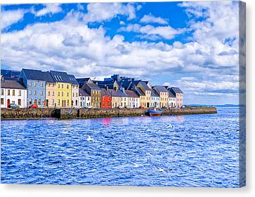 Galway On The Water Canvas Print by Mark E Tisdale