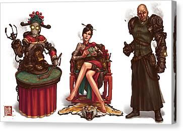 Gambling Den Concept Canvas Print by James Ng
