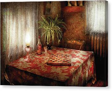 Game - Checkers - Checkers Anyone Canvas Print by Mike Savad
