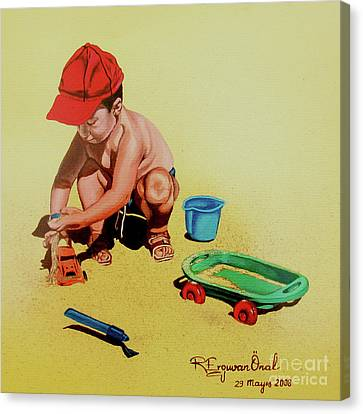 Game At The Beach - Juego En La Playa Canvas Print