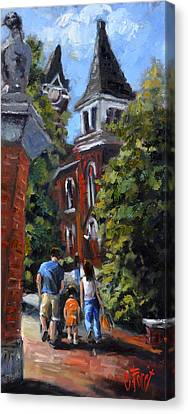 Game Day At Auburn Canvas Print by Carole Foret