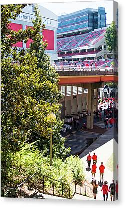 Canvas Print featuring the photograph Game Day In Athens by Parker Cunningham