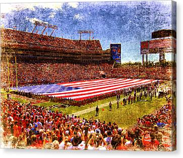 Game Day Nine Eleven Tribute Canvas Print by Andrew Armstrong  -  Mad Lab Images