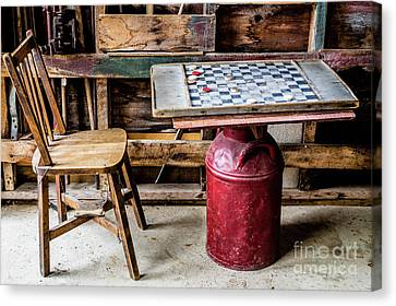 Game Of Checkers Canvas Print by M G Whittingham