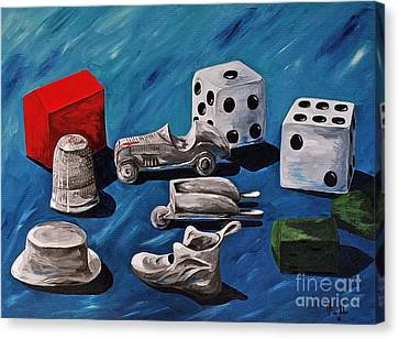 Game Pieces Canvas Print by Herschel Fall