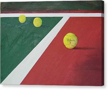 Game Set Match Canvas Print