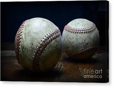 Game Used Baseballs Canvas Print by Paul Ward