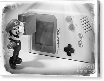 Go Cart Canvas Print - Gameboy First Edition Gray Handheld System by Stefano Senise