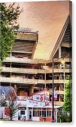 Gameday At Bryant Denny Canvas Print by JC Findley