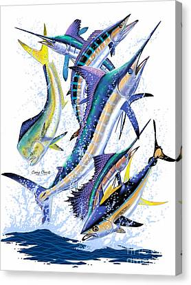 Gamefish Digital Canvas Print by Carey Chen